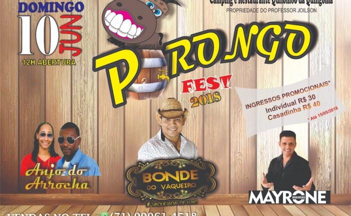 Vem aí, mais uma edição do 'Porongo Fest 2018' em Quingoma