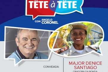 Tête-à-tête: Coronel recebe comandante da Ronda Maria da Penha para discutir violência doméstica