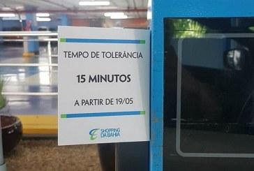 Shopping reduz tempo de tolerância do estacionamento para 15 minutos