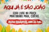 Feira Livre Junina oferece alimentos orgânicos em Lauro de Freitas nesta quarta