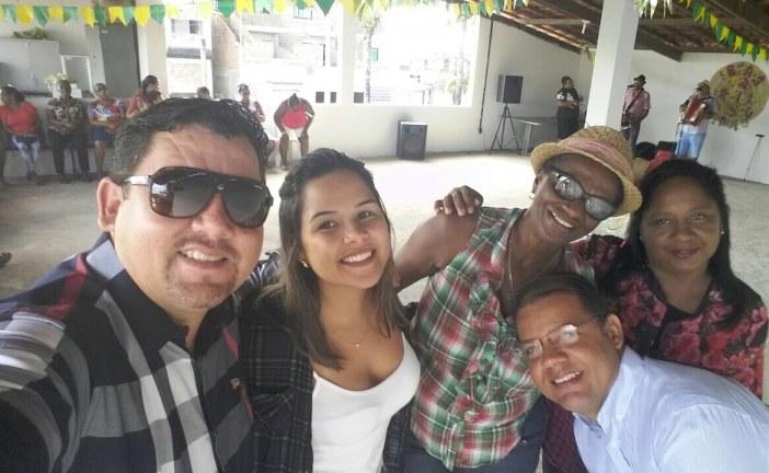 Alex Simões prestigia o São João da USF do Parque São Paulo