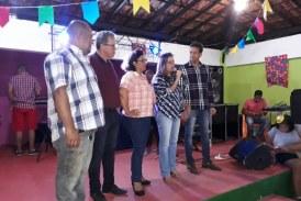 Mirela Macedo marca presença no Forró da Saúde no Clube Ipitanga