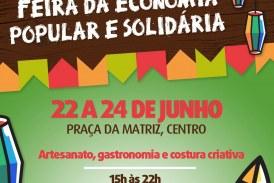 Feira da Economia Popular e Solidária acontece de sexta a domingo no Centro
