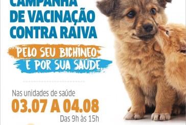 Campanha de Vacinação Antirrábica Animal começa no próximo dia 03 em Lauro de Freitas