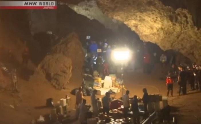 Seis meninos já foram resgatados de caverna na Tailândia