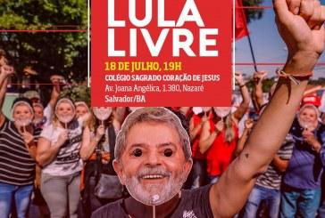 Profissionais de educação realizam ato pela liberdade de Lula em Salvador nesta quarta (18)