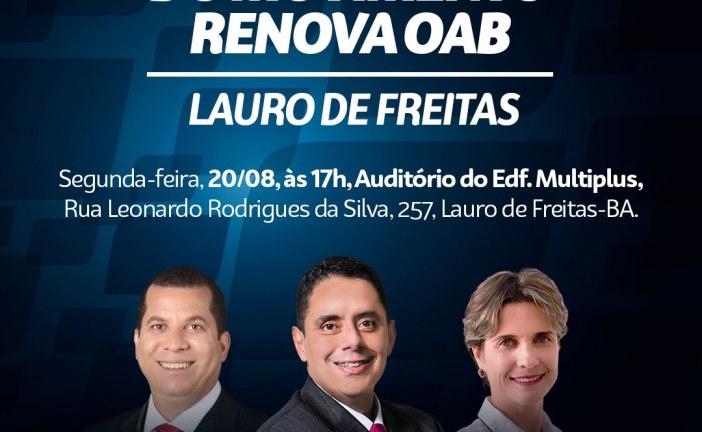 Renova OAB debate dificuldades da advocacia em Lauro de Freitas
